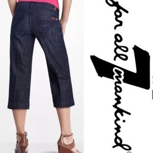 7 FOR ALL MANKIND Anthropologie DOJO Cropped Jeans